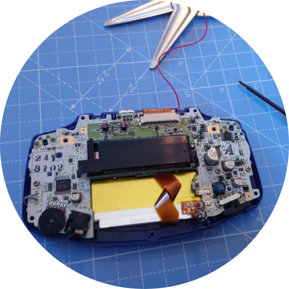 GBA Motherboard in Shell