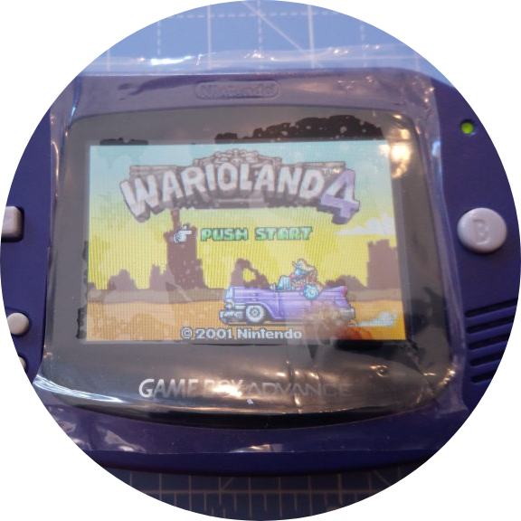 Backlit GBA Working as Intended